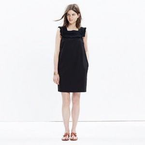Madewell 'Sundream' Fringe Shift Dress in Black